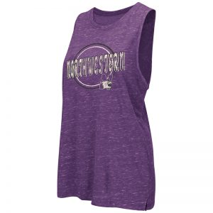 Northwestern University Wildcats Colosseum Ladies Purple The Bing Tank with N-Cat Design