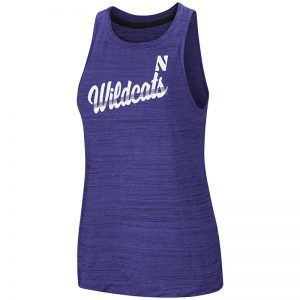 Northwestern University Wildcats Colosseum Ladies Purple Kenosha Comets Active Tank with Stylized N Design
