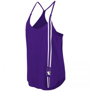 Northwestern University Wildcats Colosseum Ladies Purple Dunkirk Tank with N-Cat Design