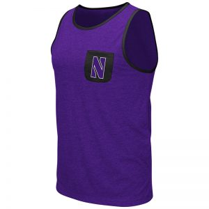 Northwestern University Wildcats Colosseum Men's Purple Babka Pocket Tank with Stylized N Design