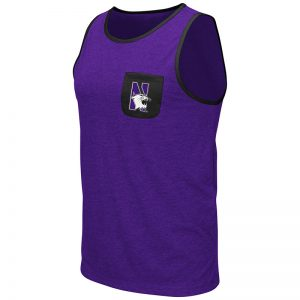 Northwestern University Wildcats Colosseum Men's Purple Babka Pocket Tank with N-Cat Design
