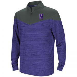 Northwestern University Wildcats Colosseum Youth Purple / Black Hercules ¼ Zip with Stylized N Design