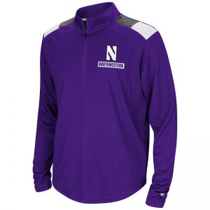 Northwestern University Wildcats Colosseum Youth Purple 99 Yards 1/4 Zip with Stylized N Design