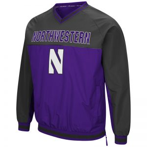 Northwestern University Wildcats Colosseum Men's Purple/Charcoal Coach Klein Windbreaker with Stylized N Design