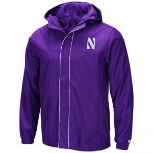 Northwestern University Wildcats Colosseum Men's Purple Giant Slalom Full Zip Hooded Jacket with Stylized N Design
