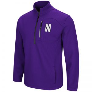 Northwestern University Wildcats Colosseum Men's Purple Townie 1/4 Zip Jacket with Stylized N Design