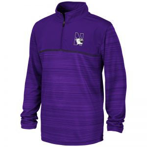 Northwestern University Wildcats Colosseum Youth Purple Salta 1/4 Zip Windshirt with N-Cat Design