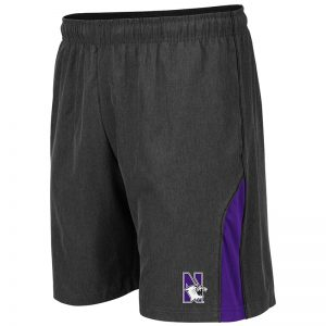Northwestern University Wildcats Men's Colosseum Charcoal Somoa Short with N-Cat Design