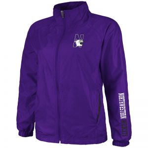 Northwestern University Wildcats Colosseum Ladies Purple Breeze Jacket with N-Cat Design