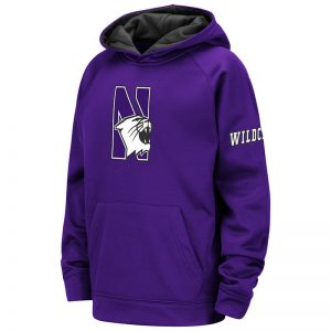 Northwestern University Wildcats Colosseum Youth Purple VF Raglan Poly Pullover with N-Cat Design