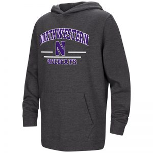 Northwestern University Wildcats Colosseum Youth Hooded Sweatshirt with Stylized N Design