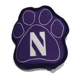 "Northwestern University Wildcats Paw Shaped (9"") Squeak Toy"
