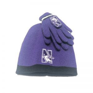 Northwestern University Wildcats Purple Infant & Toddler Knit Cap & Glove Set With N-Cat Design
