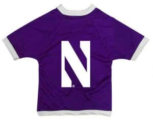 Northwestern University Wildcats Athletic Dog Jersey With Stylized N Design