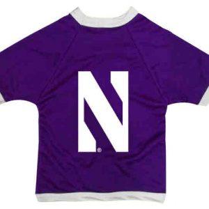 Northwestern University Wildcats Athletic Dog Jersey With Stylized N Design