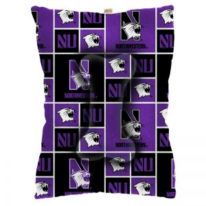 Northwestern University Wildcats Large Pet Bed With All Over Design