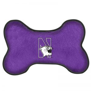 "Northwestern University Wildcats Large Bone (10"") Squeak Toy"