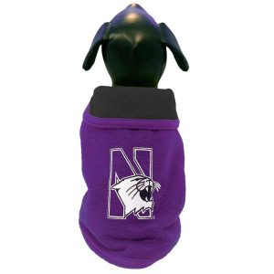Northwestern University Wildcats Double Polar Fleece Dog Coat