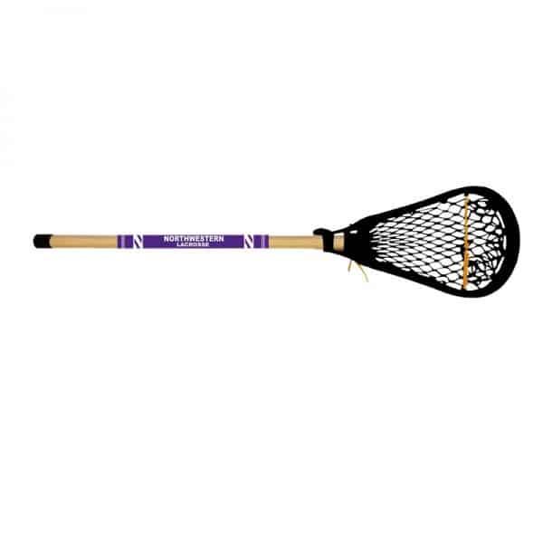 "Northwestern University Wildcats Wooden Mini Lacrosse Stick With Black Net 28"""