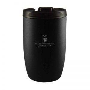Northwestern University Wildcats 10 oz Laser Engraved Black Keeper Kup Travel Tumbler Mug