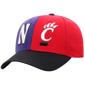 Northwestern University Wildcats House Divided Hat with Cincinnati Bearcats-Left View