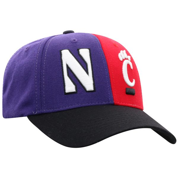 Northwestern University Wildcats House Divided Hat with Cincinnati Bearcats-Right