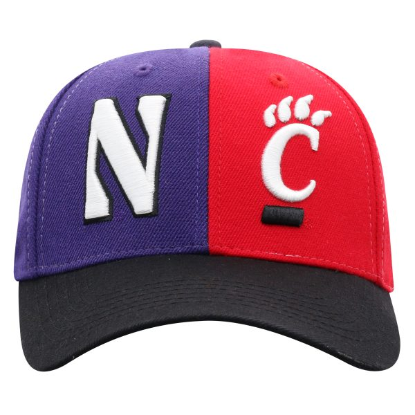 Northwestern University Wildcats House Divided Hat with Cincinnati Bearcats