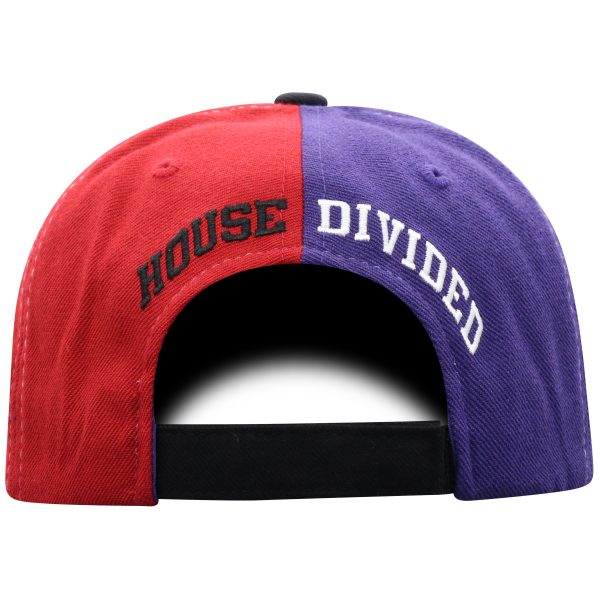 Northwestern University Wildcats House Divided Hat with Oklahoma Sooners-Back