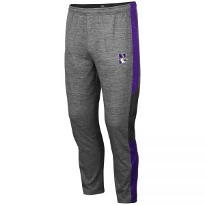 Northwestern University Wildcats Colosseum Men's Bart Track Pant With Embroidered N-Cat Design