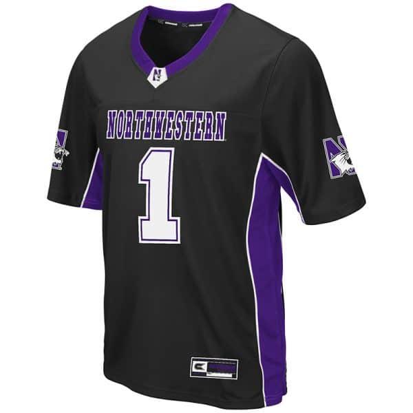 Northwestern University Wildcats Colosseum Men's Black Max Power Football Jersey