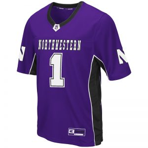 Northwestern University Wildcats Colosseum Men's Purple Max Power Football Jersey