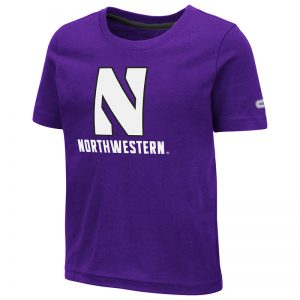 Northwestern University Wildcats Colosseum Toddler Purple S/S T-Shirt with Stylized N Over Northwestern