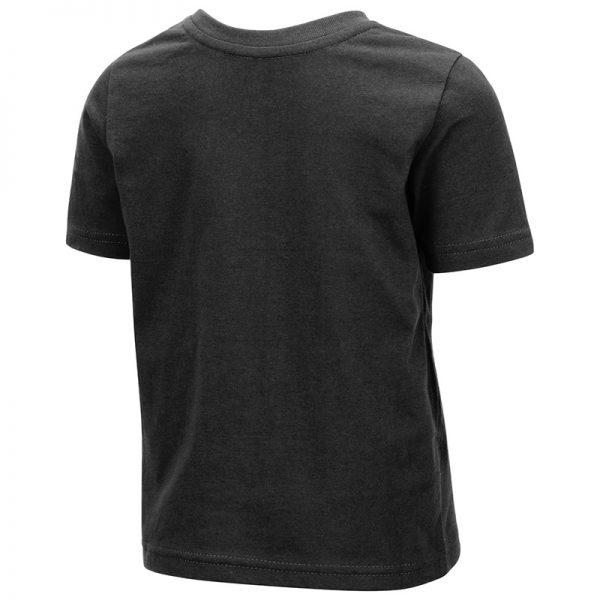 Northwestern University Wildcats Colosseum Toddler Black S/S T-Shirt With Willie The Wildcat Over Northwestern Design -Black