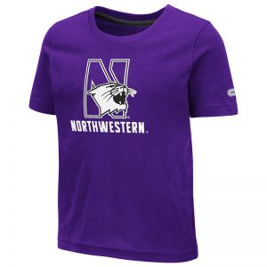 Northwestern University Wildcats Colosseum Toddler Purple S/S T-Shirt with N-Cat Over Northwestern Design