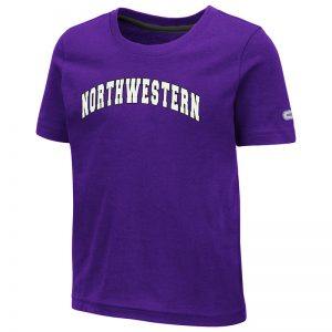 Northwestern University Wildcats Colosseum Toddler Purple S/S T-Shirt with Arched Northwestern Design