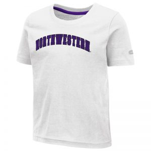 Northwestern University Wildcats Colosseum Toddler White S/S T-Shirt with Arched Northwestern Design