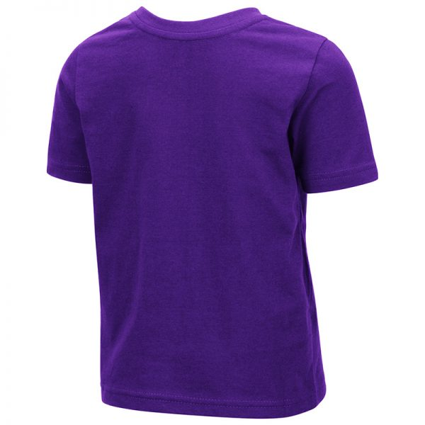 Northwestern University Wildcats Colosseum Toddler Purple Hisskill S/S T-Shirt with Boxed Northwestern & N-Cat Design -back