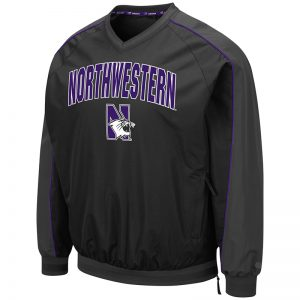 Northwestern University Wildcats Colosseum Men's Duffman Windbreaker Jacket with N-Cat Design