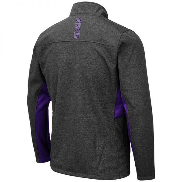 Northwestern University Wildcats Colosseum Men's Bumblebee Jacket with N-Cat Design -Back