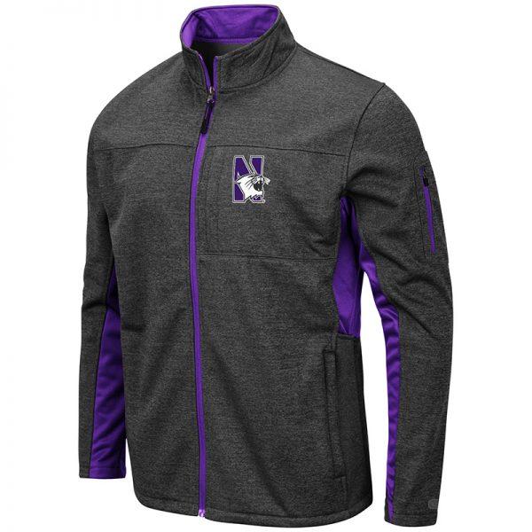 Northwestern University Wildcats Colosseum Men's Bumblebee Jacket with N-Cat Design