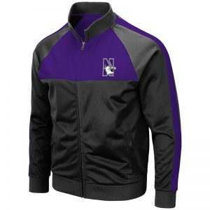 Northwestern University Wildcats Colosseum Men's Homerpalooza Track Jacket with N-Cat Design