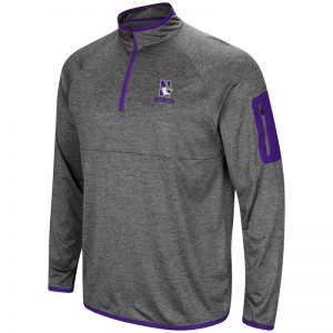 Northwestern University Wildcats Colosseum Men's Indus River 1/4 Zip Windshirt with N-Cat Design