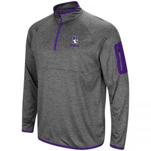 Northwestern University Wildcats Colosseum Men's Indus River 1/4 Zip Windshirt with N-Cat Design