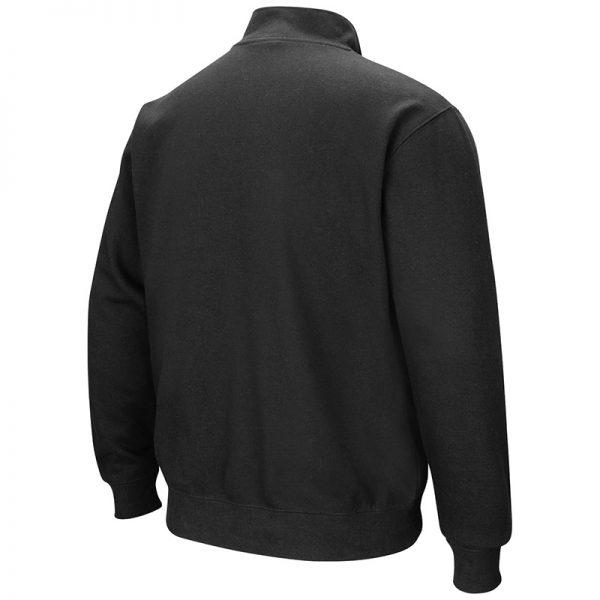 Northwestern University Wildcats Colosseum Men's Black VF 1/4 Zip Sweatshirt with N-Cat Design -Back