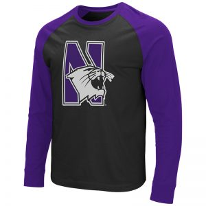 Colosseum Northwestern Wildcats Gray Steff Waffle L//S Youth Shirt