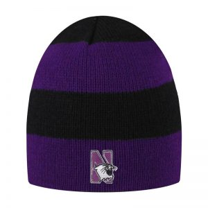 Northwestern University Wildcats Adult Purple/Black Columbia Rugby Stripped Beanie