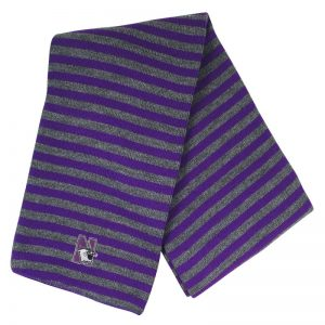 Northwestern University Wildcats Purple/Charcoal Micro-stripped Knit Scarf