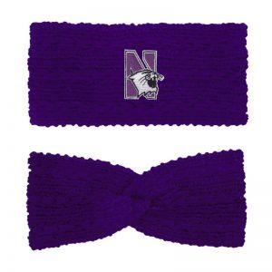 Northwestern University Wildcats Adaline Solid Purple Knit Twist Ear Band