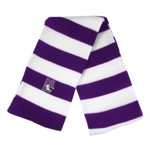 Northwestern University Wildcats Purple/White Rugby-stripped Knit Scarf