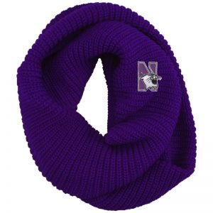 Northwestern University Wildcats Solid Purple Chunky Knit Infinity Scarf